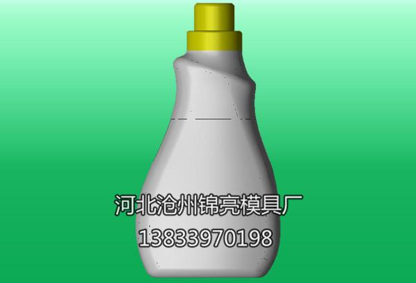 洗衣液瓶模具三维图